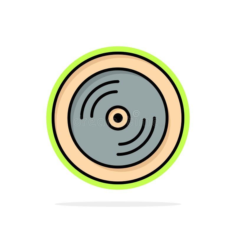 CD, Dvd, disco, icona piana di colore del fondo astratto del cerchio di istruzione illustrazione vettoriale