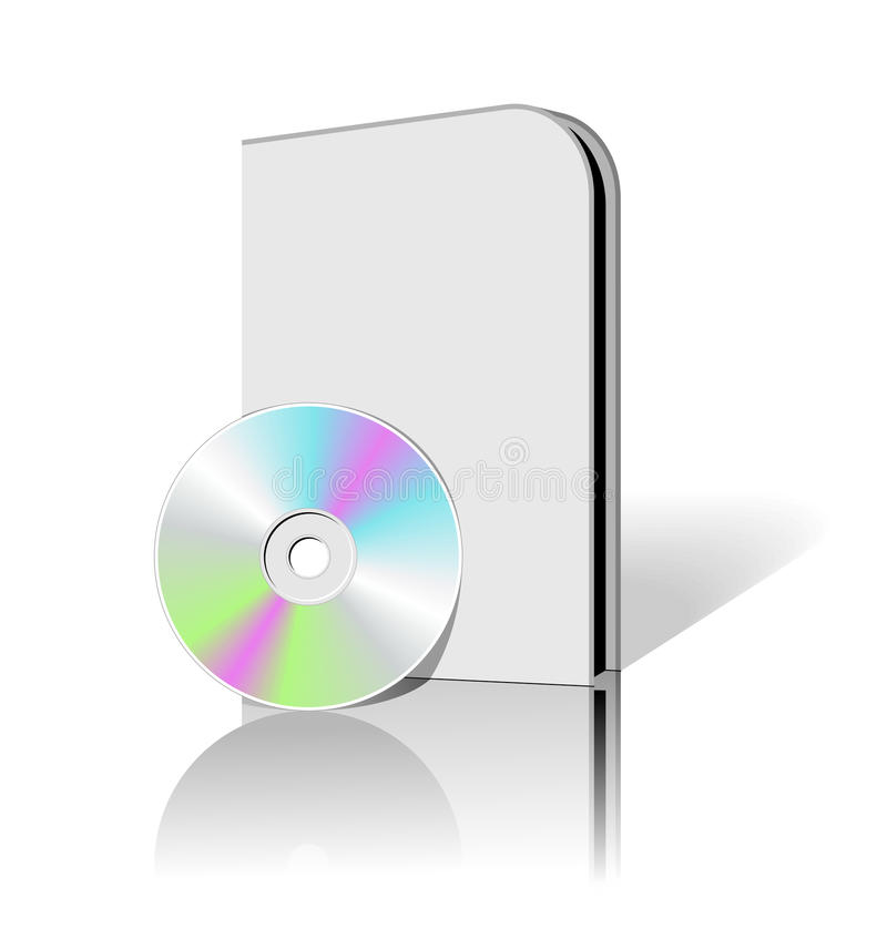 CD DVD doos vector illustratie