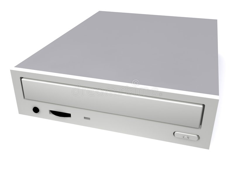 Cd/dvd drive stock illustration