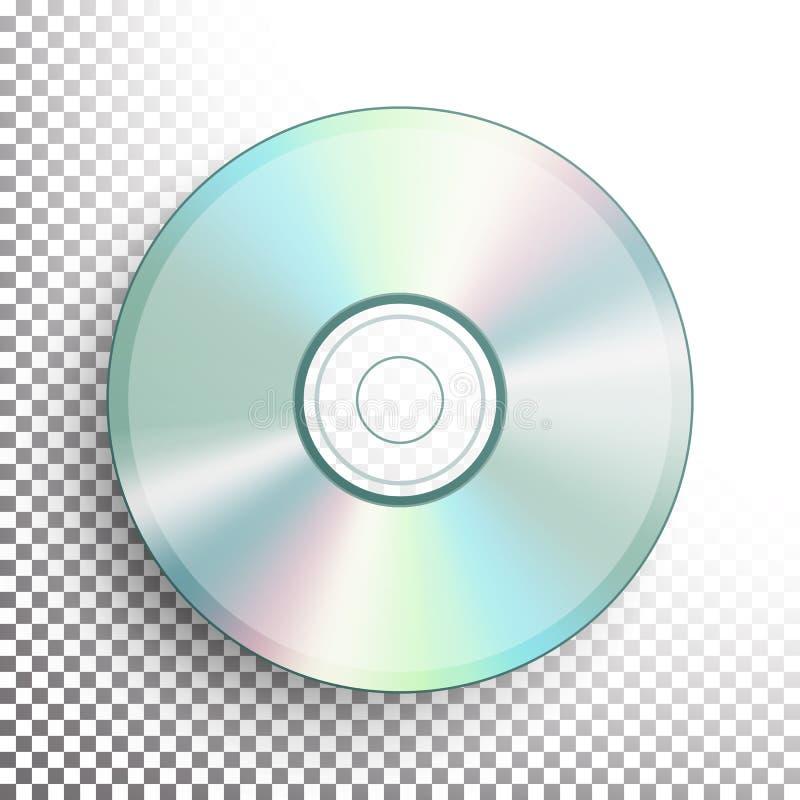 CD, DVD dyska wektor royalty ilustracja