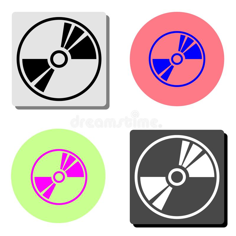 CD or DVD. flat vector icon royalty free illustration