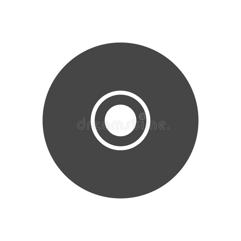 CD or DVD icon stock illustration