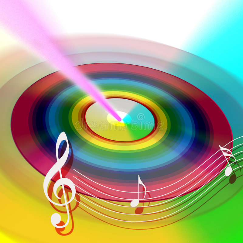 CD DVD Internet muziek royalty-vrije illustratie