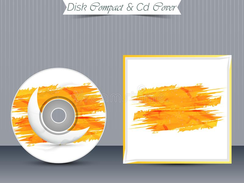 CD or DVD Jewel Case Templates. Nice and beautiful design templates for CD or DVD Jewel Case for Business with creative illustration royalty free illustration
