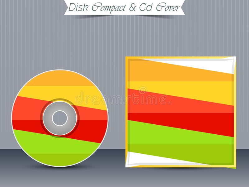 CD or DVD Jewel Case Templates. Nice and beautiful design templates for CD or DVD Jewel Case for Business with creative illustration stock illustration
