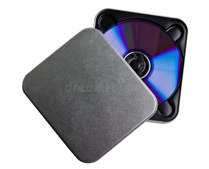 CD DVD Metallkasten stockbild