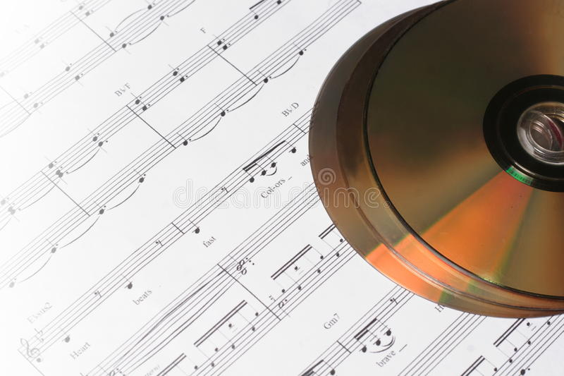 Download CD Or DVD With Musical Note Stock Image - Image: 31879129