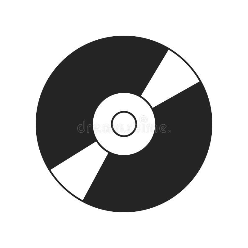 CD of DVD-pictogram op witte backgound wordt geïsoleerd die De gegevensopslag van de Compact disc digitale optische schijf stock illustratie