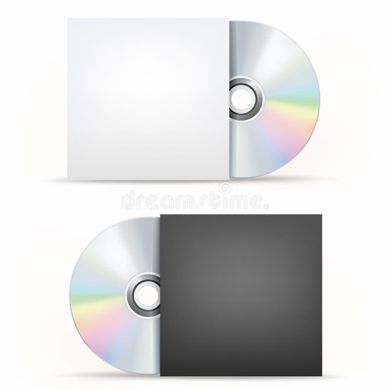 CD-DVD pokrywa i dysk ilustracja wektor