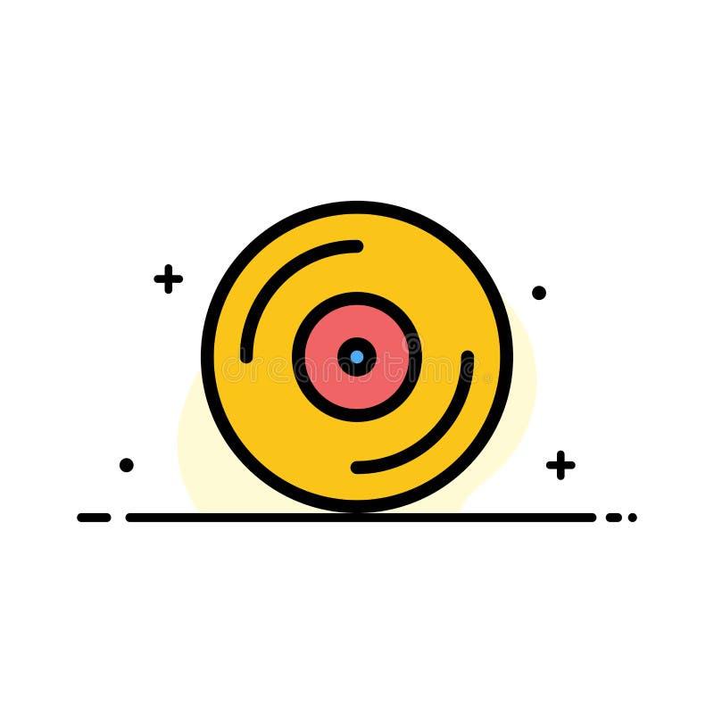 Cd, Dvd, Pracowniana Biznesowa linia Wypełniający mieszkanie ikony sztandaru Wektorowy szablon ilustracji