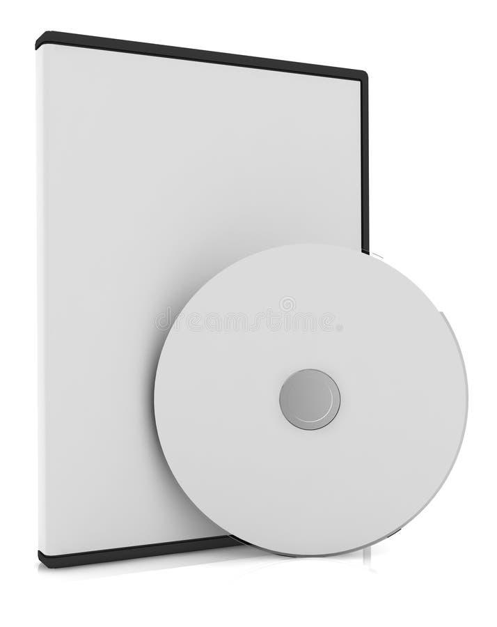CD/DVD schijf met doos royalty-vrije illustratie