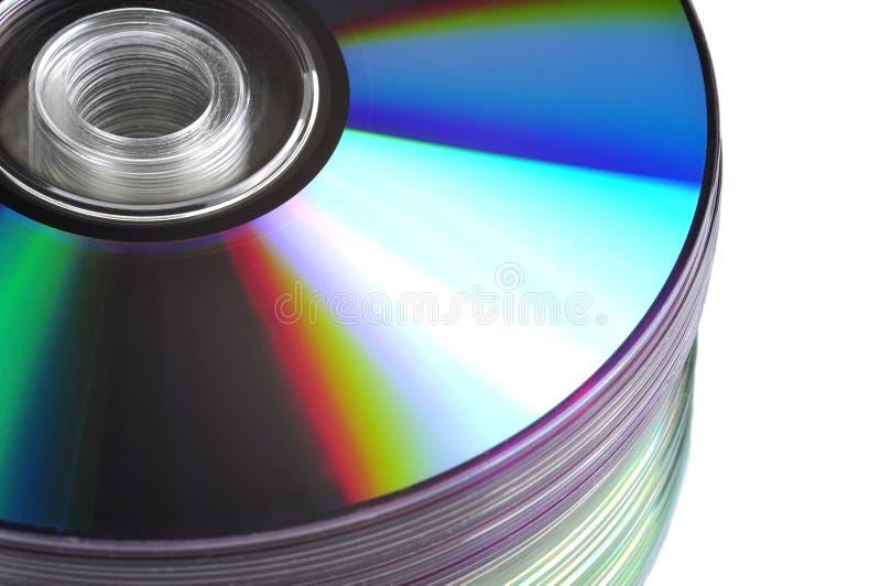 CD/DVD Stapel lizenzfreies stockbild