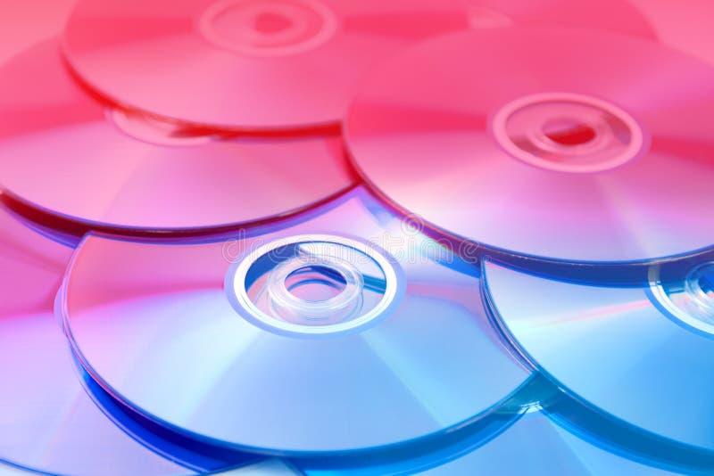CD, DVD-Stapel lizenzfreie stockfotos