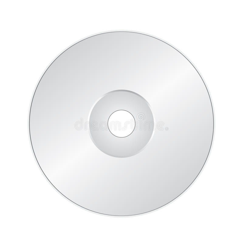 CD Or DVD On White Stock Image