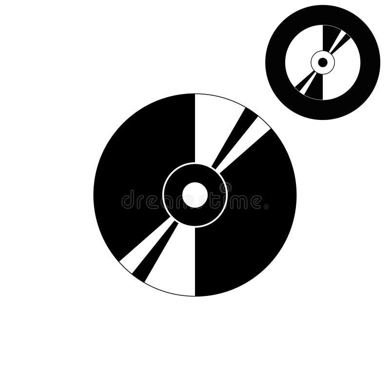 CD of DVD - wit vectorpictogram stock illustratie
