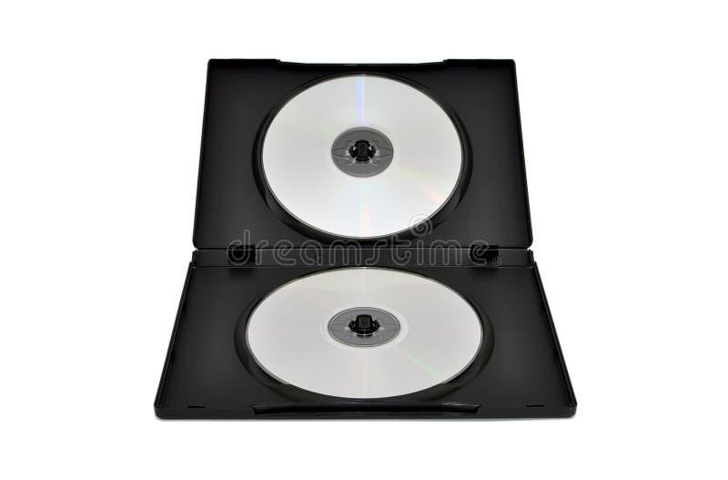 Cd, DVDs dans un cadre image stock