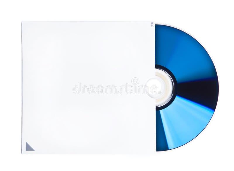 CD e caso in bianco fotografie stock