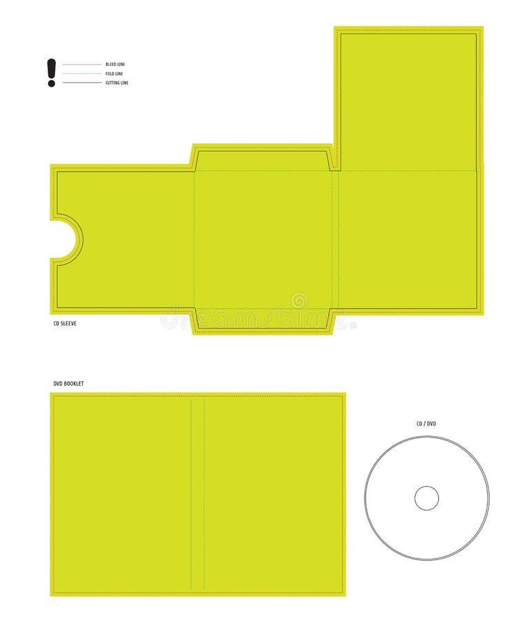 CD e disposição cortada DVD ilustração do vetor