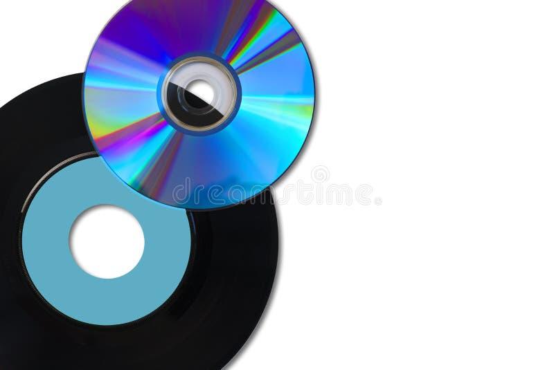 CD e vinile singoli immagine stock