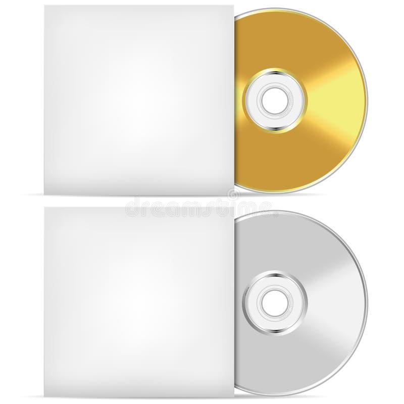 CD en blanco o DVD libre illustration