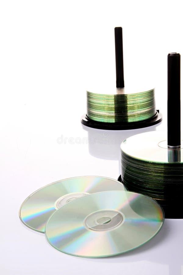 CD en dvd stock fotografie
