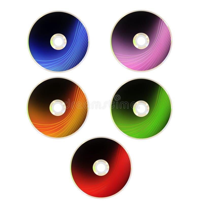 CD en DVD met dekking royalty-vrije illustratie
