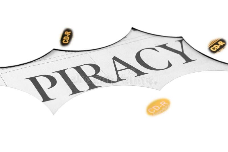Cd et mot de piratage image libre de droits