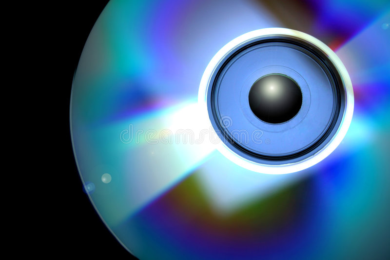 CD Eye. Compact Disk as human eye stock images