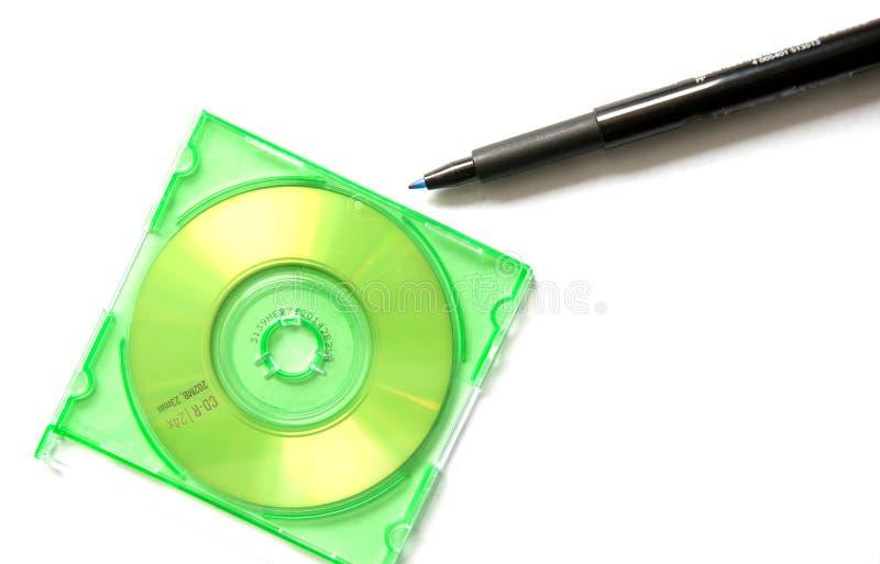 CD Feder und Minicd stockbilder