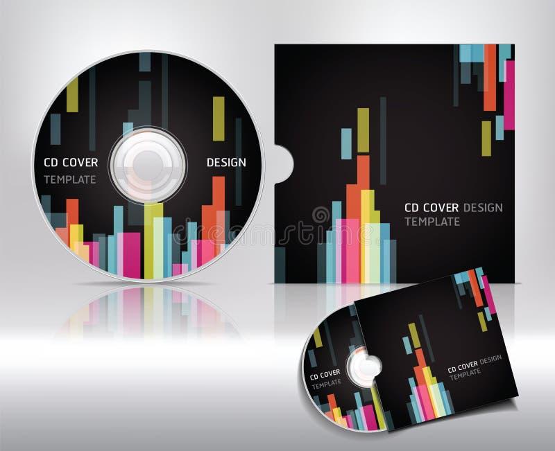 CD-het malplaatje van het dekkingsontwerp. Abstracte achtergrond. stock illustratie
