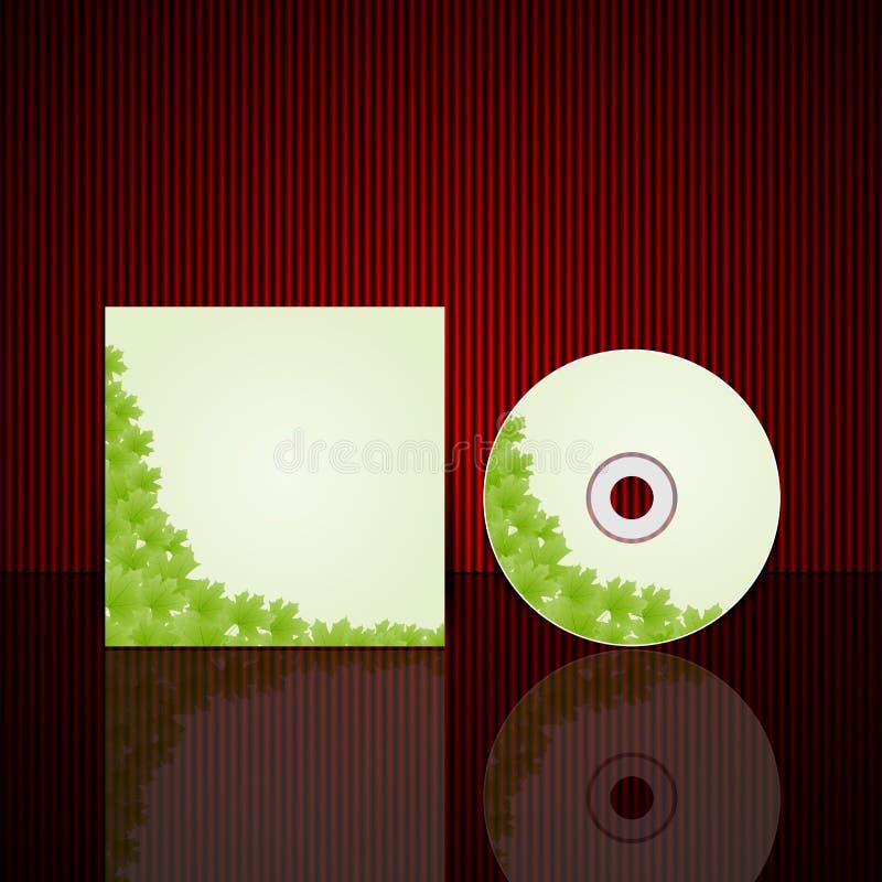 CD-het malplaatje van het dekkingsontwerp. Vectorillustratie. stock illustratie
