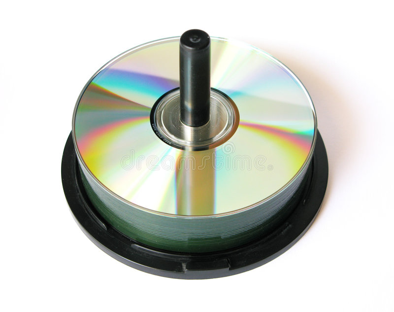 Cd holder. On a white backgound stock photos