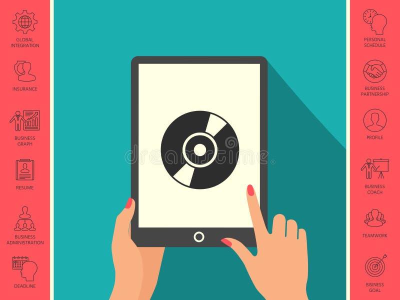 CD, icône de symbole de DVD illustration de vecteur