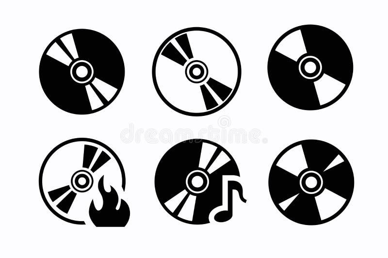 CD-Ikonen lizenzfreie abbildung