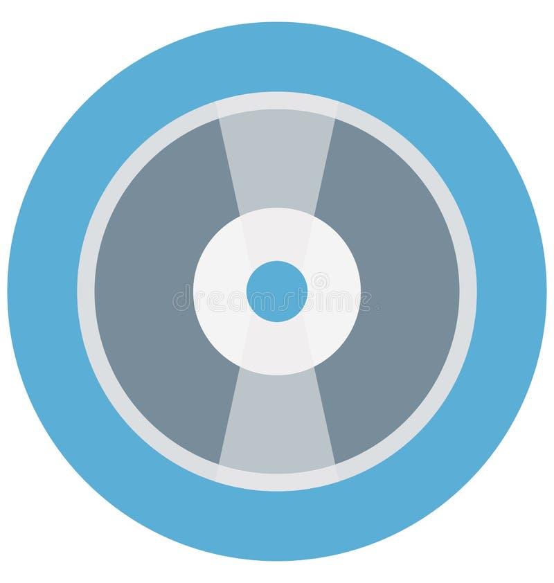 CD Illustrations-Farbvektor lokalisierter Ikone einfacher editable und spezieller Gebrauch für Freizeit, Reise und Ausflug lizenzfreie abbildung