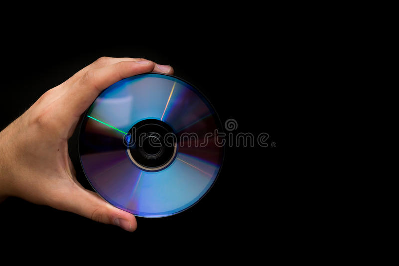CD Isolated On Black Stock Photography