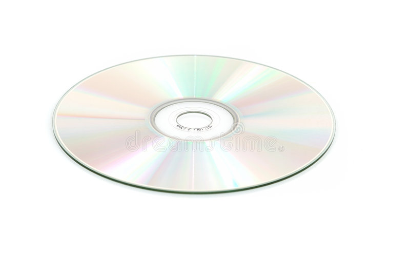 CD isolato fotografie stock