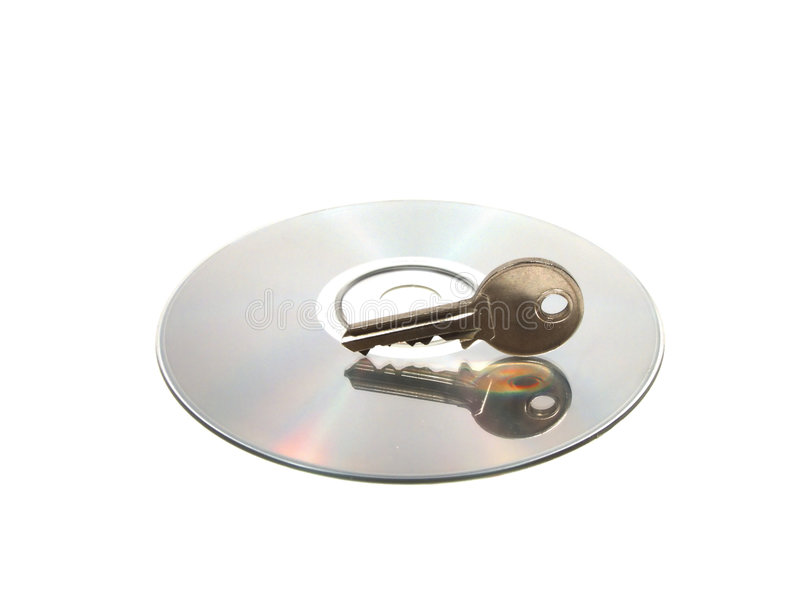 Cd and Key royalty free stock photos
