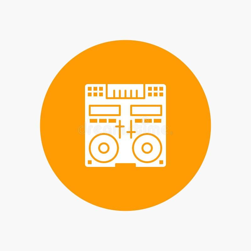 CD, Konsole, Plattform, Mischer, Musik vektor abbildung