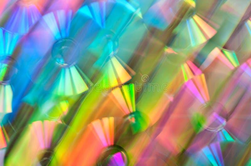 CD. Light dispersion. stock image