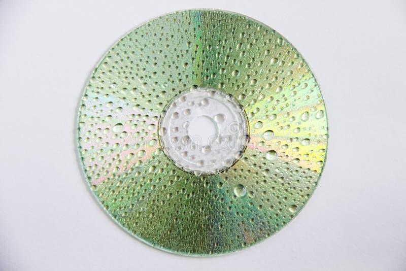 CD met dalingen van water royalty-vrije stock afbeelding