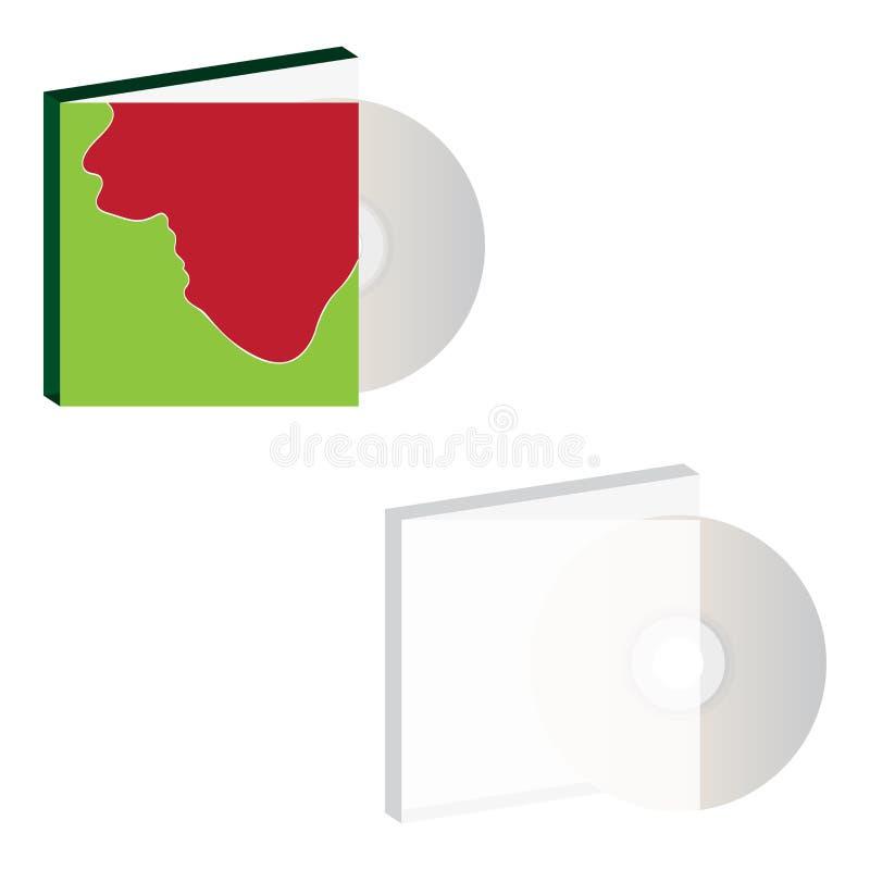 CD met dekking Vector ontwerp royalty-vrije illustratie