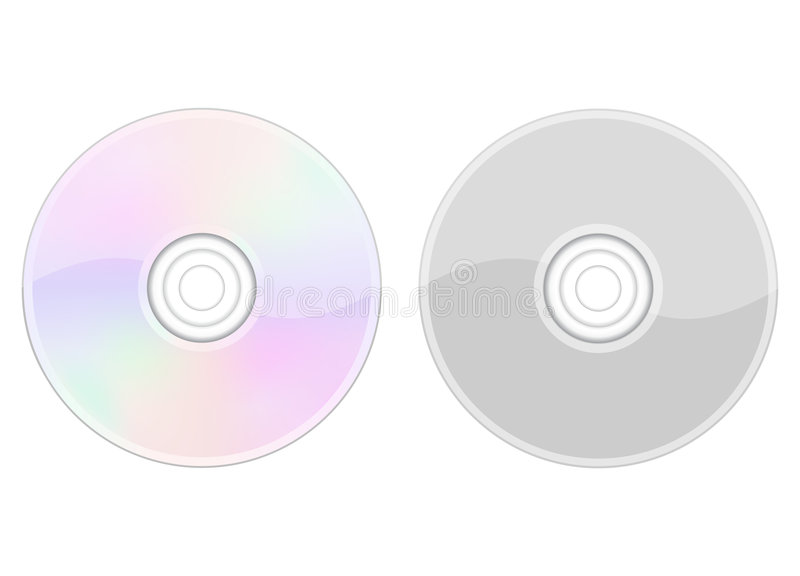 CD no branco ilustração royalty free