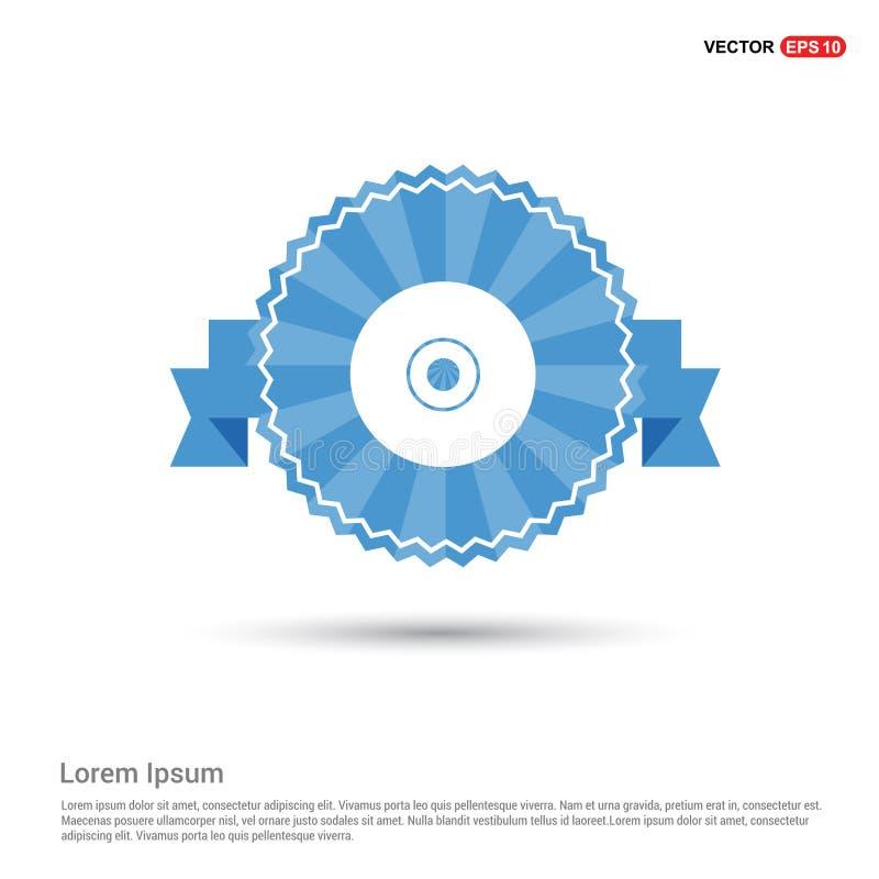 CD- oder DVD-Ikone lizenzfreie abbildung