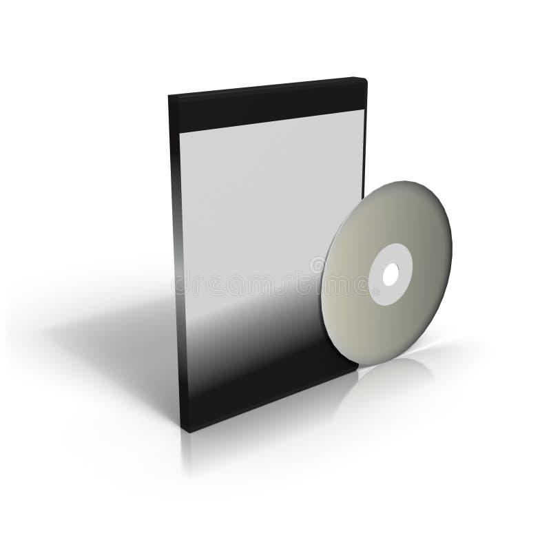 CD oder DVD und Fall vektor abbildung