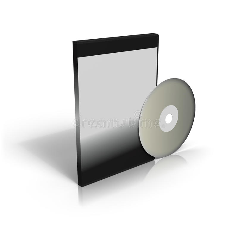 CD ou DVD e caso ilustração do vetor