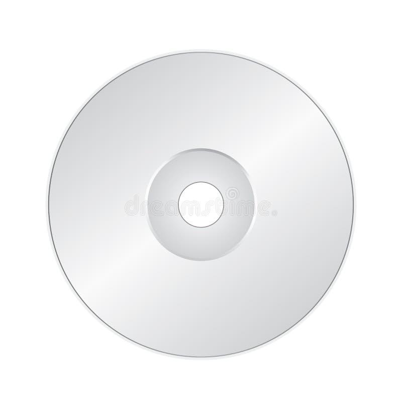 CD ou DVD sur le blanc illustration de vecteur