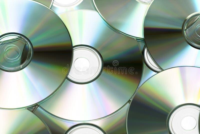 Cd ou romes de DVD imagens de stock