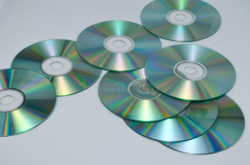 CD ou romes de DVD para o fundo foto de stock