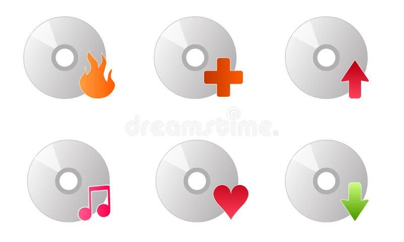 Cd Plattenbrennermusik-Ikonenvektor